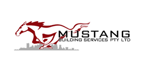 Mustang building services logo